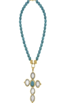 Susan Shaw Turquoise Necklace with Cross Pendant - Alternate List Image
