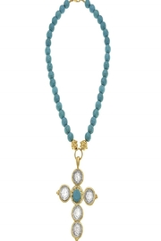 Susan Shaw Turquoise Necklace with Cross Pendant - Product Mini Image