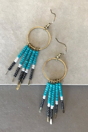 Truly You Turquoise Paddle Earrings - Product Mini Image