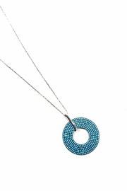 Italian Ice Turquoise Pave Necklace - Front cropped