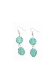 Wild Lilies Jewelry  Turquoise Pebble Earrings - Product Mini Image