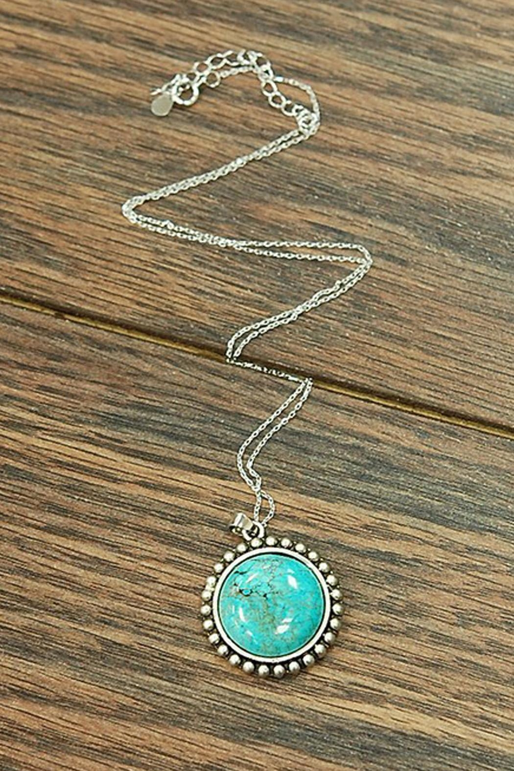 Wild Lilies Jewelry  Turquoise Pendant Necklace - Main Image