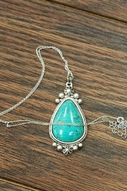 Wild Lilies Jewelry  Turquoise Pendant Necklace - Front cropped