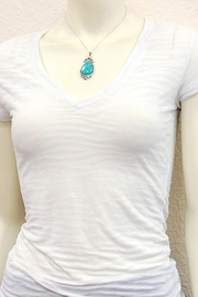 Wild Lilies Jewelry  Turquoise Pendant Necklace - Front full body