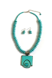 JChronicles Turquoise Pendant Necklace-Set - Product Mini Image