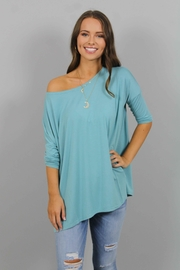 Piko  Turquoise Top - Product Mini Image