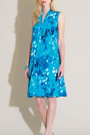 Clara Sunwoo Turquoise Print Dress - Product Mini Image