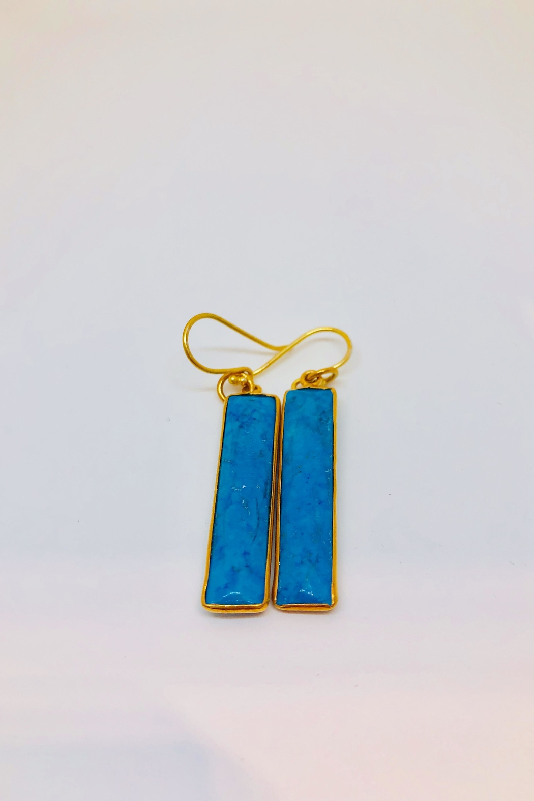 Jill Duzan Turquoise Rectangles - Front Cropped Image