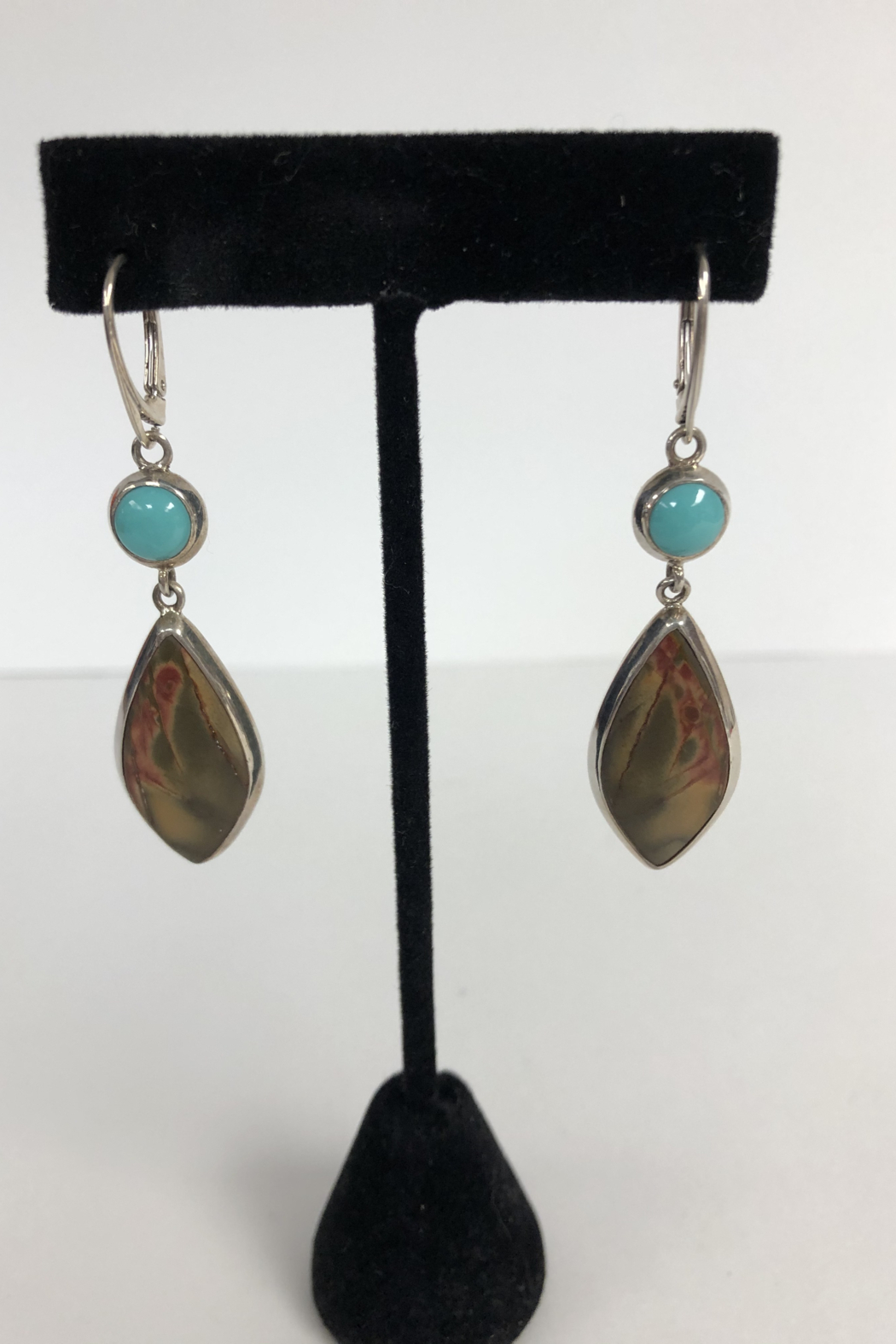 Toto Collection Turquoise/ Red Creek Jasper Earrings - Main Image