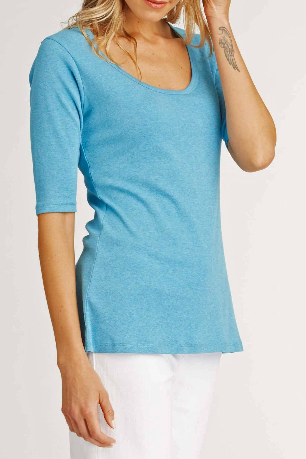 Indigenous Turquoise Scoop Tee - Side Cropped Image