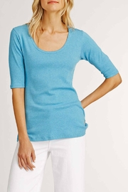 Indigenous Turquoise Scoop Tee - Front full body