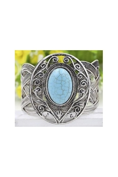 Twisted Designs Turquoise Silver Cuff - Product List Image