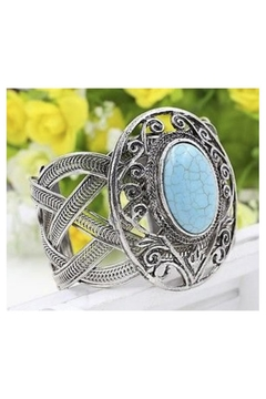 Twisted Designs Turquoise Silver Cuff - Alternate List Image