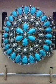 JA X C+I Turquoise & Silver Ponytail Holder - Product Mini Image