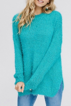 Modern Emporium Turquoise Solid Sweater - Product List Image