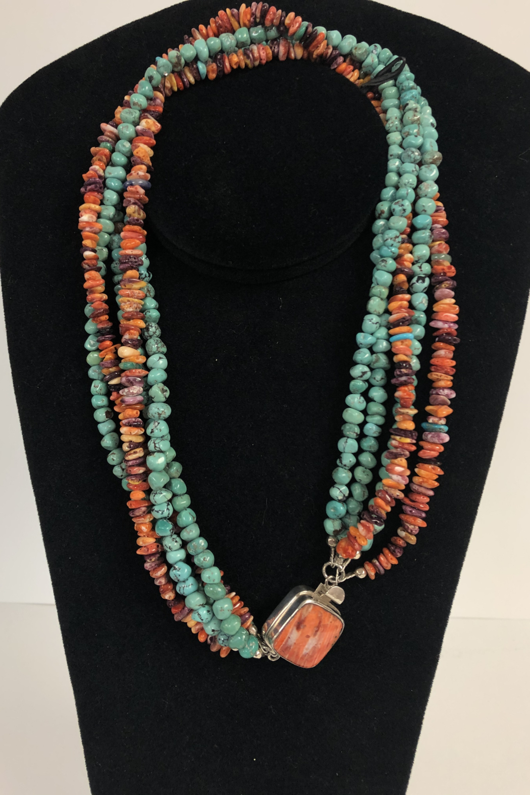 Toto Collection Turquoise/ Spiny Oyster Shell Necklace - Main Image
