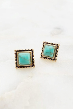 Wild Lilies Jewelry  Turquoise Square Studs - Alternate List Image
