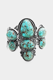 Wild Lilies Jewelry  Turquoise Statement Bracelet - Product Mini Image