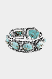 Wild Lilies Jewelry  Turquoise Statement Bracelet - Front full body