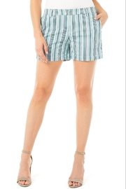Liverpool  Turquoise Stripe Trouser Short - Product Mini Image