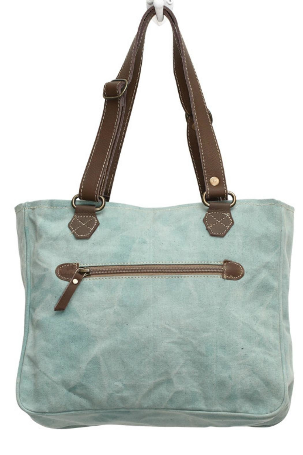Myra Bags Turquoise Texas  Bag - Side Cropped Image