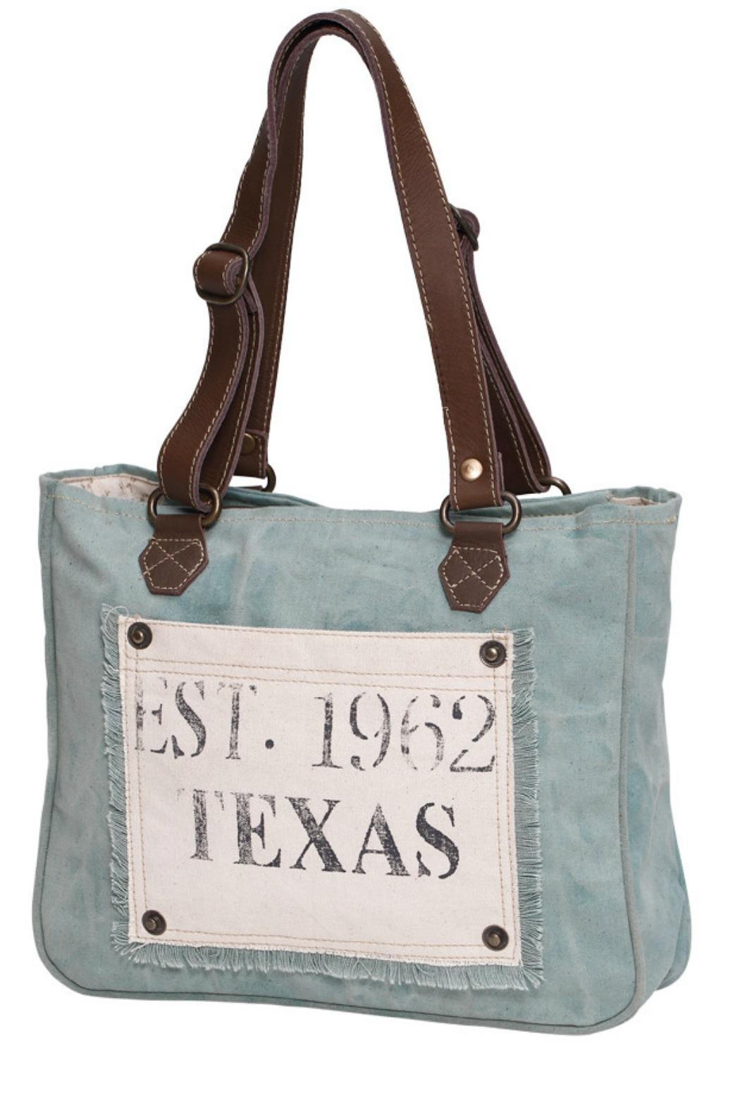 Myra Bags Turquoise Texas  Bag - Front Cropped Image