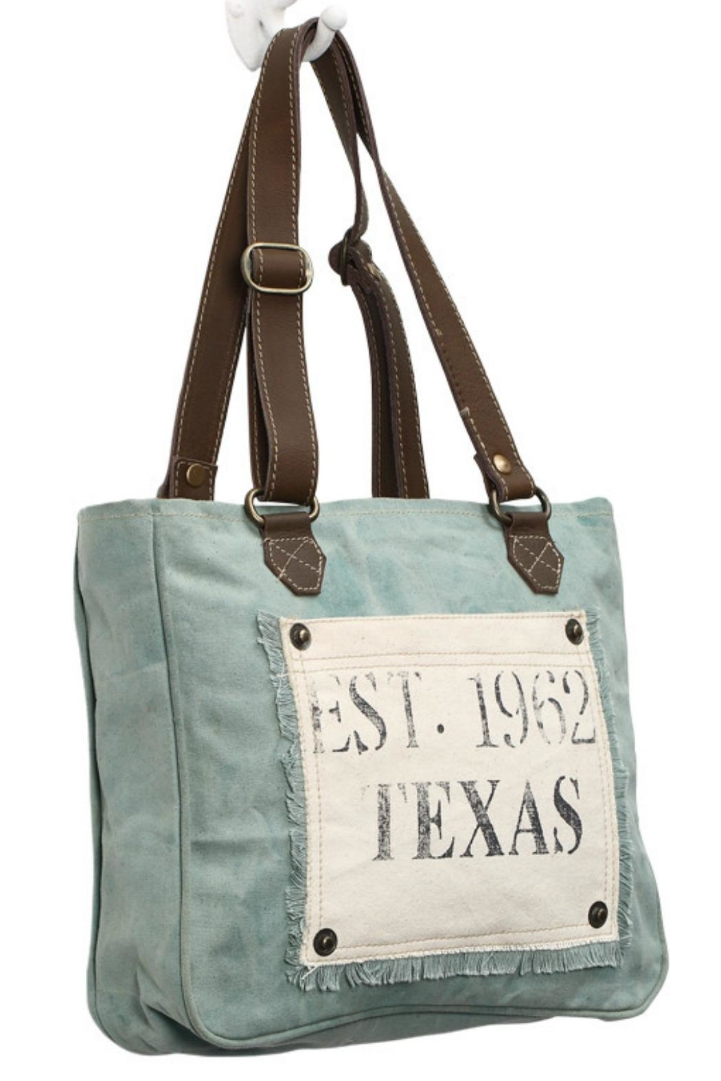 Myra Bags Turquoise Texas  Bag - Front Full Image