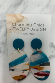 Charming Chics Turquoise Tie Earrings - Product Mini Image