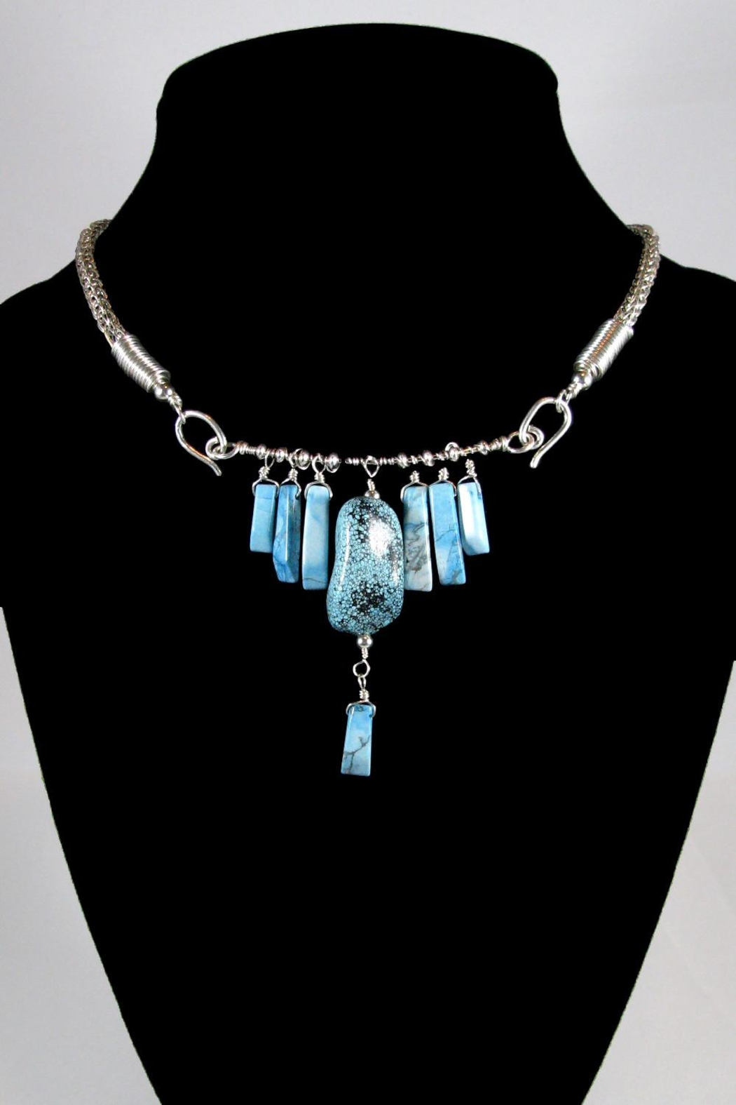 Silver Serpent Studio Turquoise Viking-Knit Necklace - Main Image