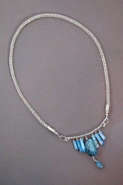 Silver Serpent Studio Turquoise Viking-Knit Necklace - Front full body