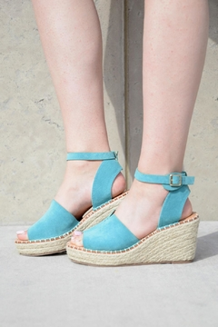 Lets See Style Turquoise Wedges - Alternate List Image