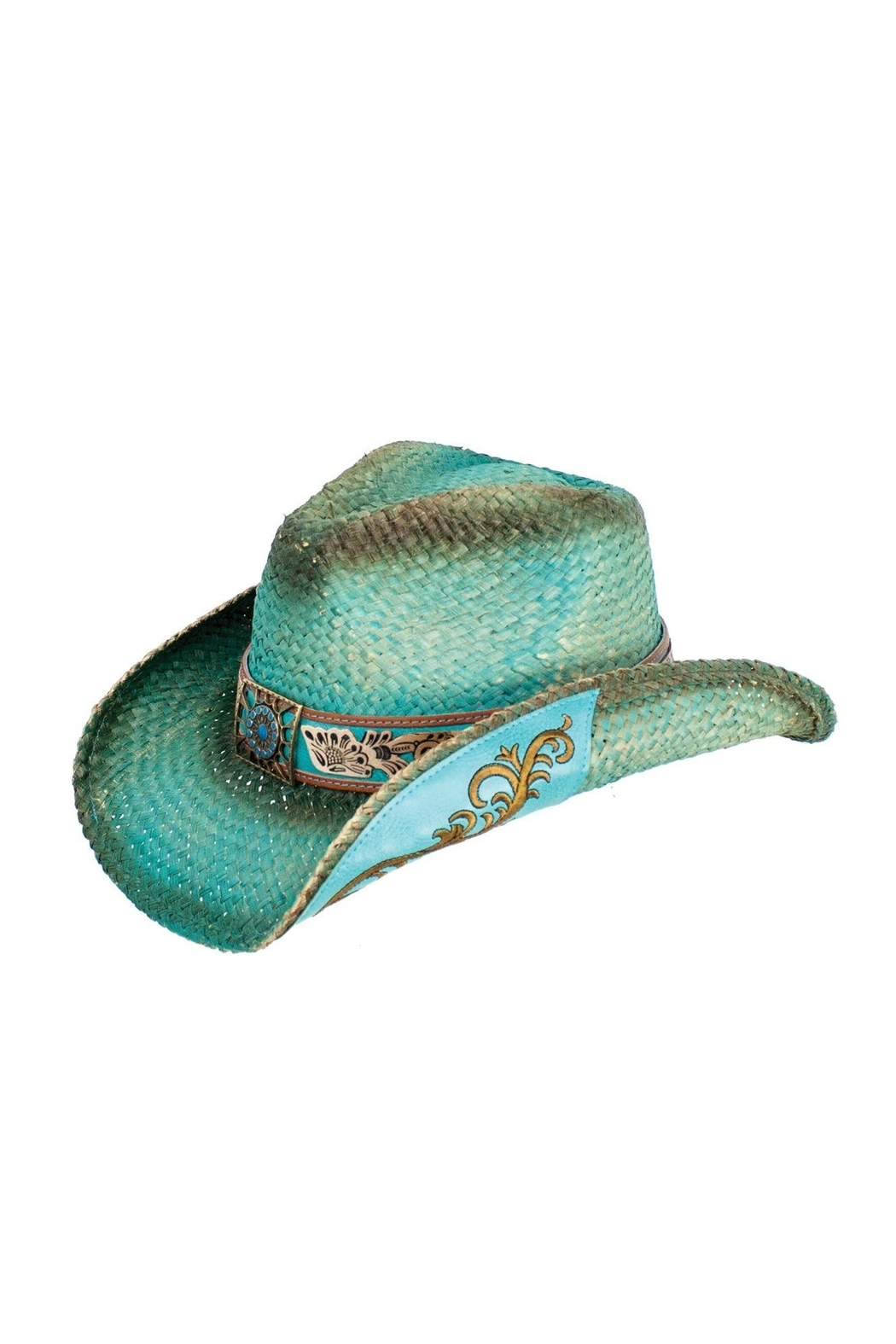 Peter Grimm Turquoise Western Hat - Front Cropped Image