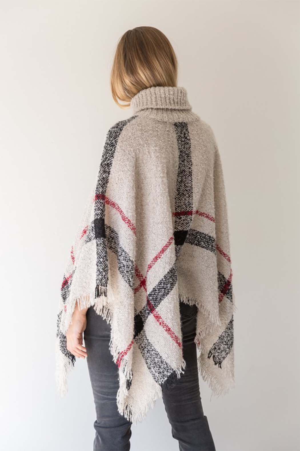 Mystree Turtle Neck Cape - Front Full Image