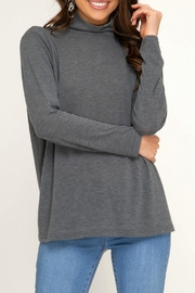 She + Sky Turtle-Neck Knit Top - Product Mini Image