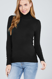 Active Basic Turtle-Neck light weight sweater - Front full body