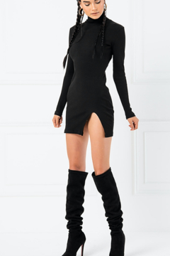 Kikiriki Turtle Neck Mini Dress - Product List Image