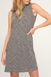 She + Sky Turtle-Neck Rib-Knit Dress - Product Mini Image