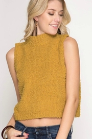 She + Sky Turtle-Neck Sweater Vest - Product Mini Image