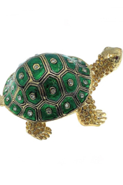 Kubla Crafts Turtle Trinket Box - Front full body