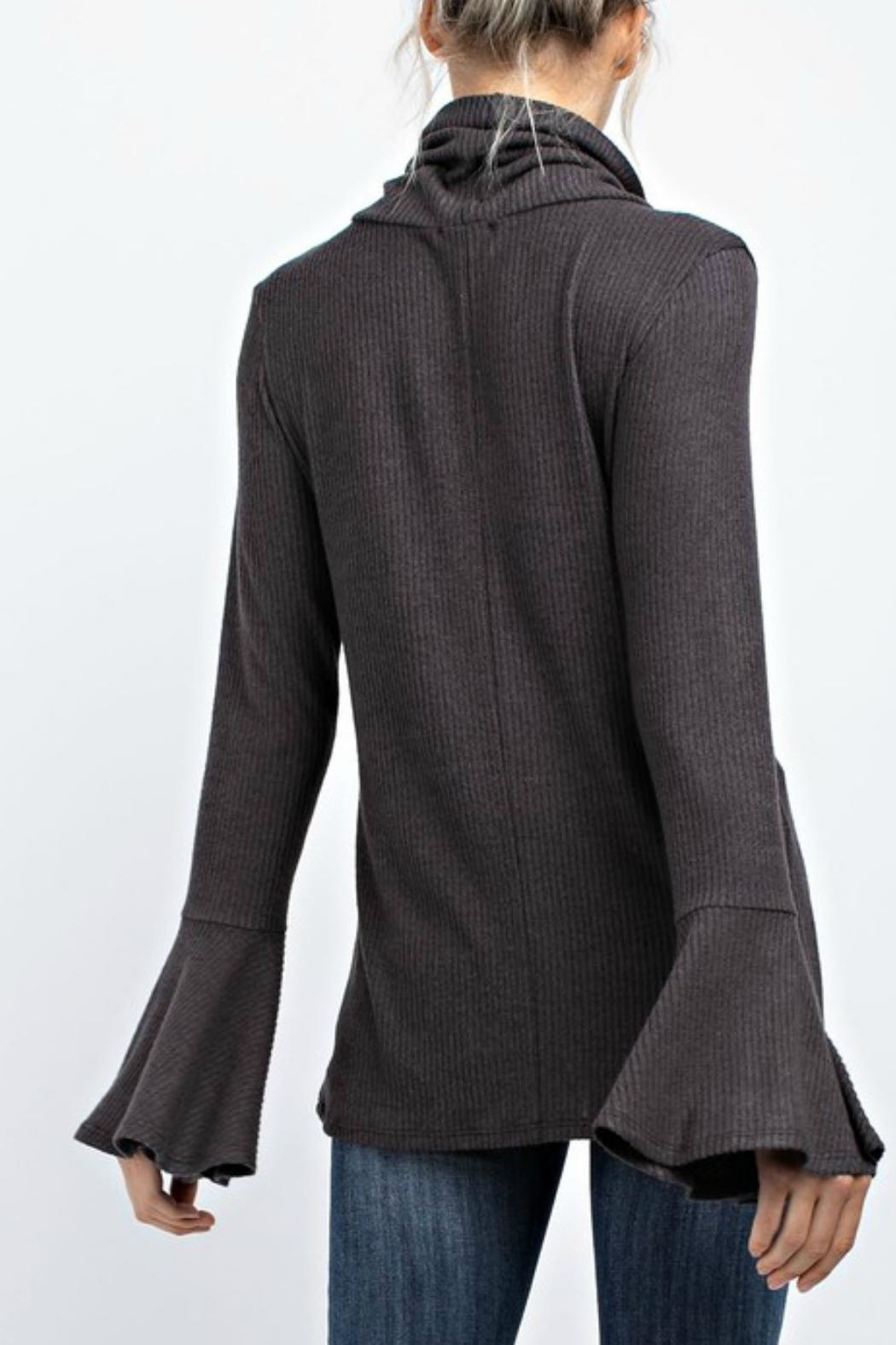 143 Story Turtleneck Bell-Sleeve Top - Side Cropped Image