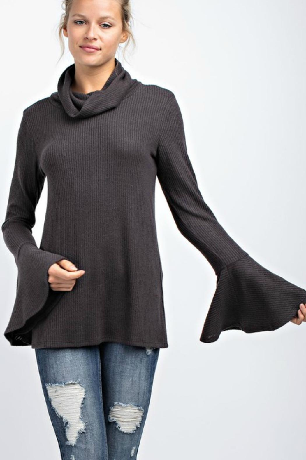 143 Story Turtleneck Bell-Sleeve Top - Back Cropped Image