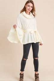 Doe & Rae Turtleneck Cape Top - Product Mini Image