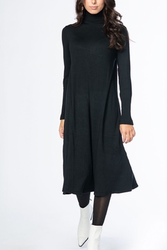 Shoptiques Product: TURTLENECK FLARE DRESS
