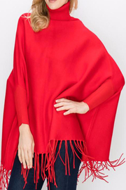 Patricia's Presents Turtleneck, Fringed Poncho - Front cropped