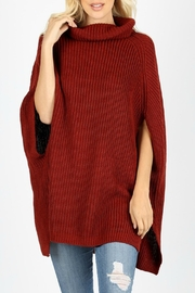 Zenana Outfitters Turtleneck Poncho Sweater - Product Mini Image