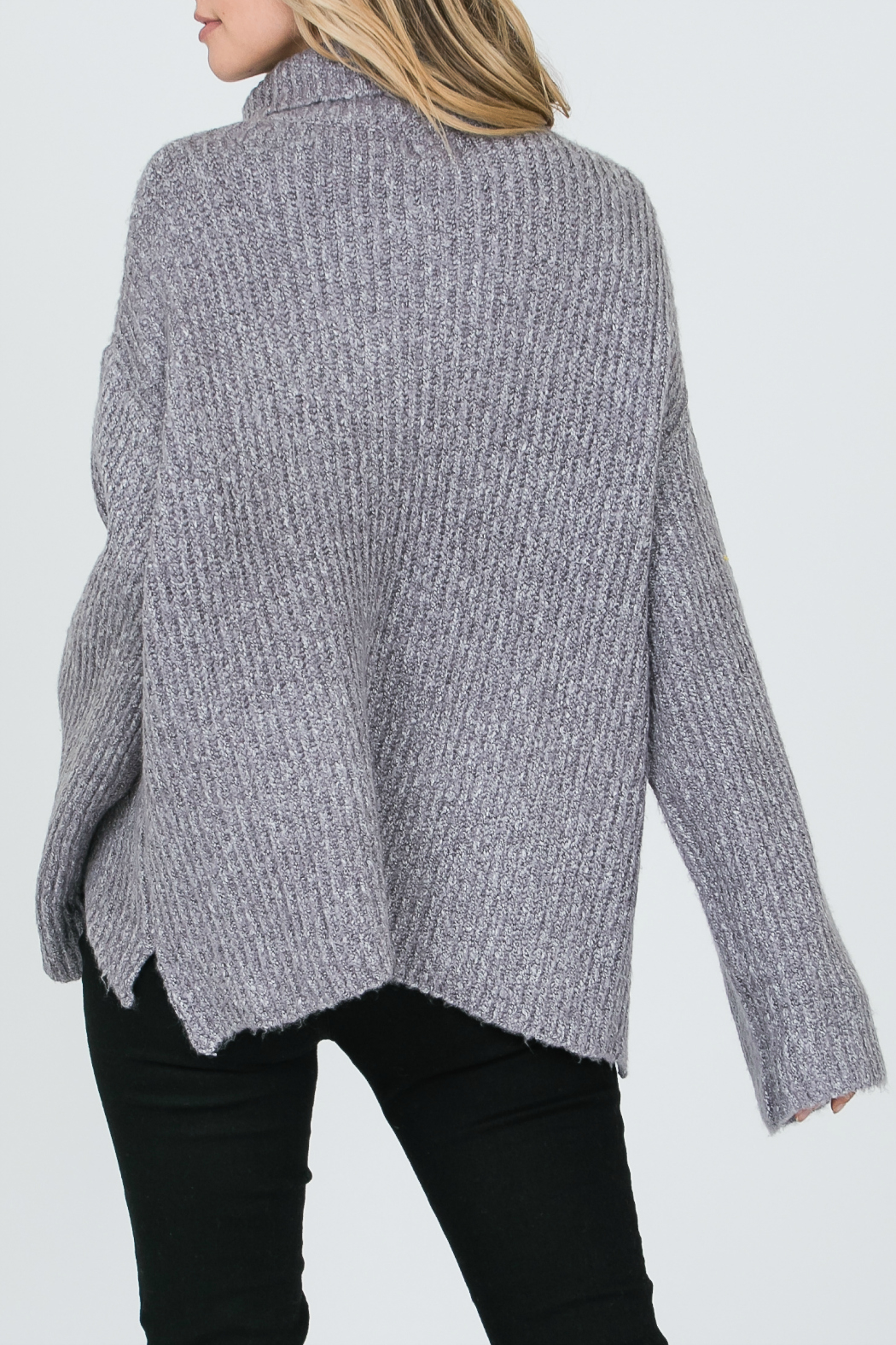 Allie Rose Turtleneck Sweater - Front Full Image