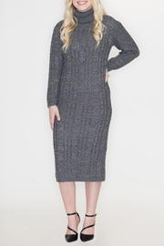 Cozy Casual Turtleneck Sweater Dress - Product Mini Image