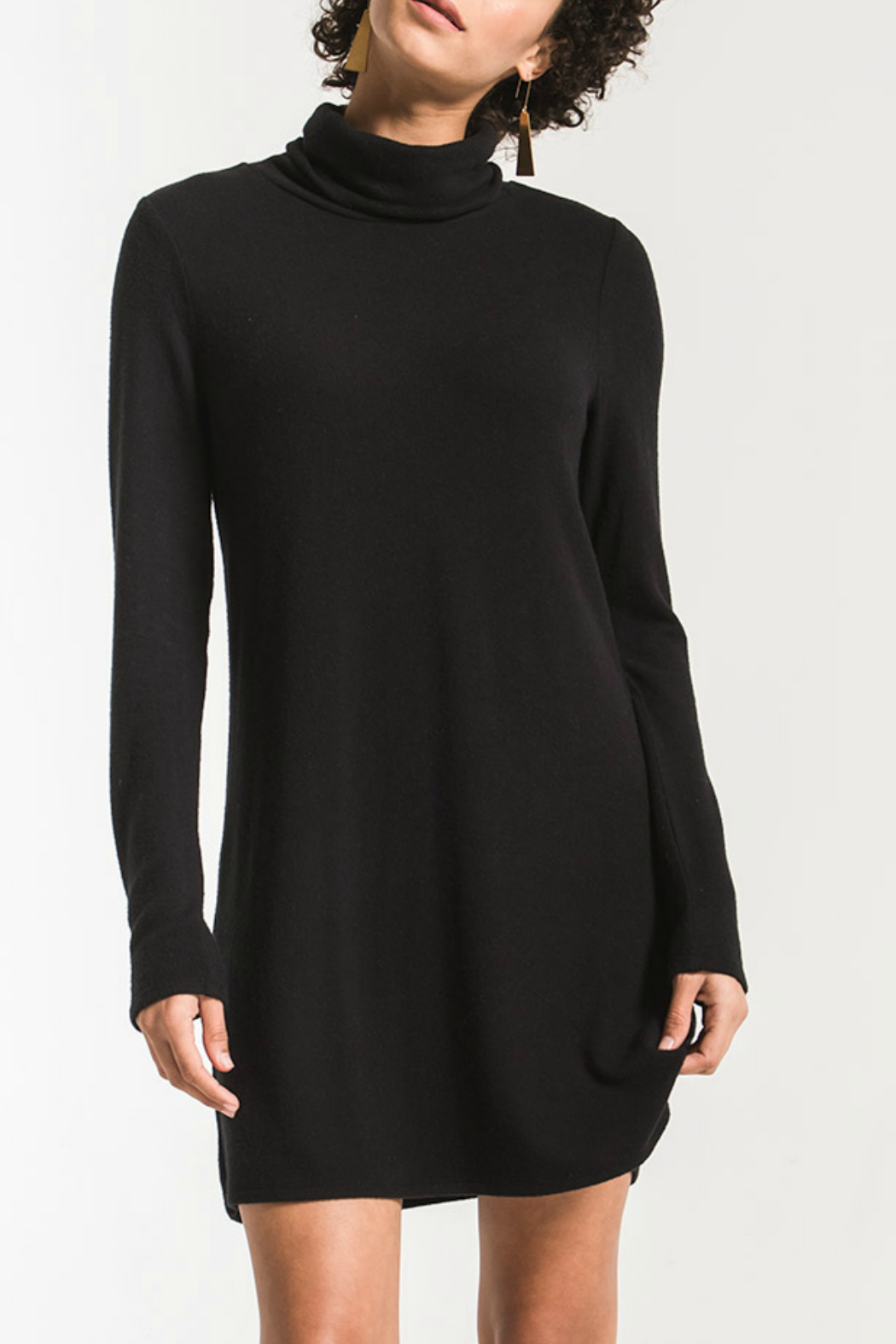 z supply Turtleneck Sweater Dress - Front Cropped Image