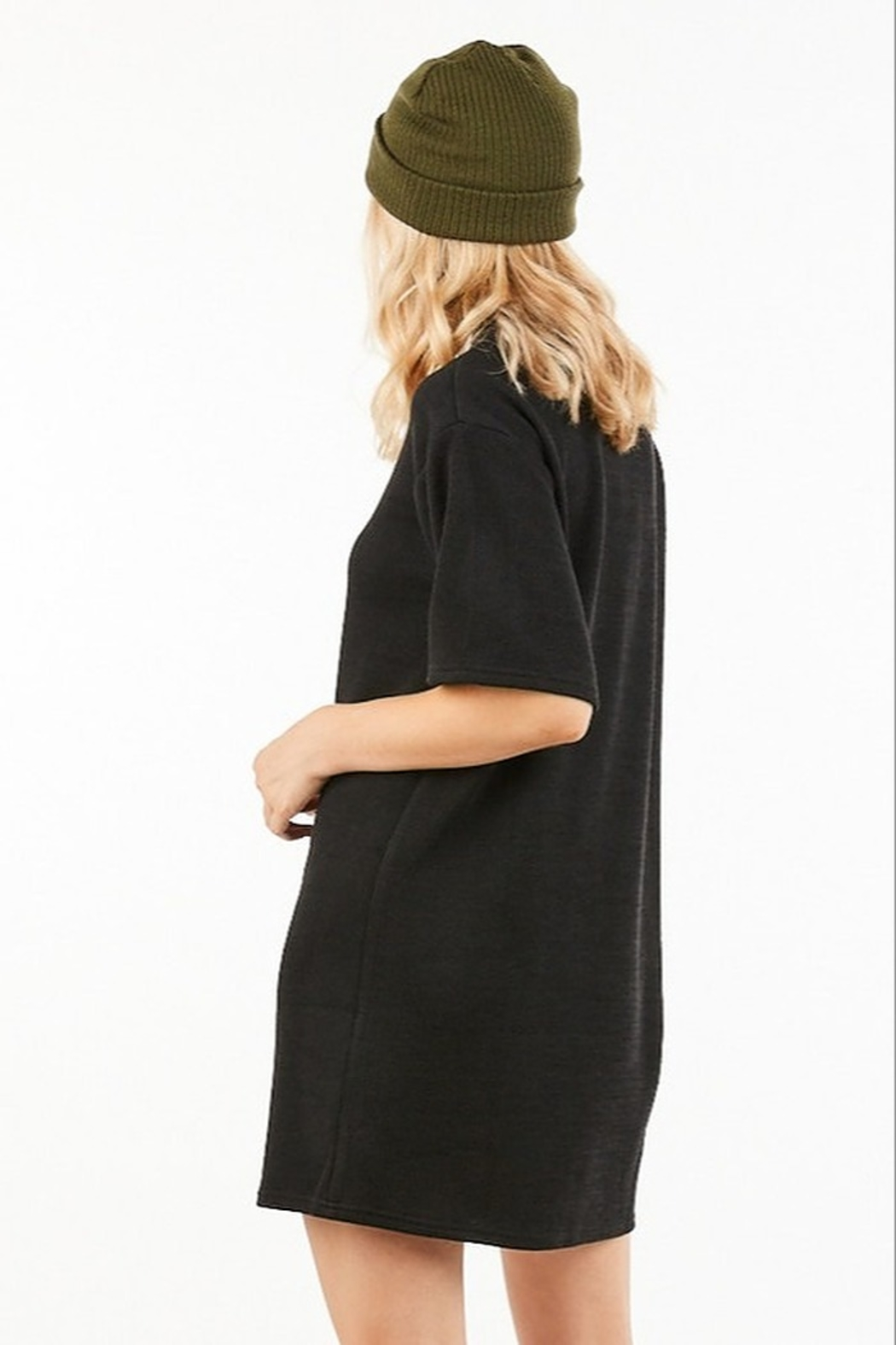 Very J Turtleneck Sweater Dress - Side Cropped Image