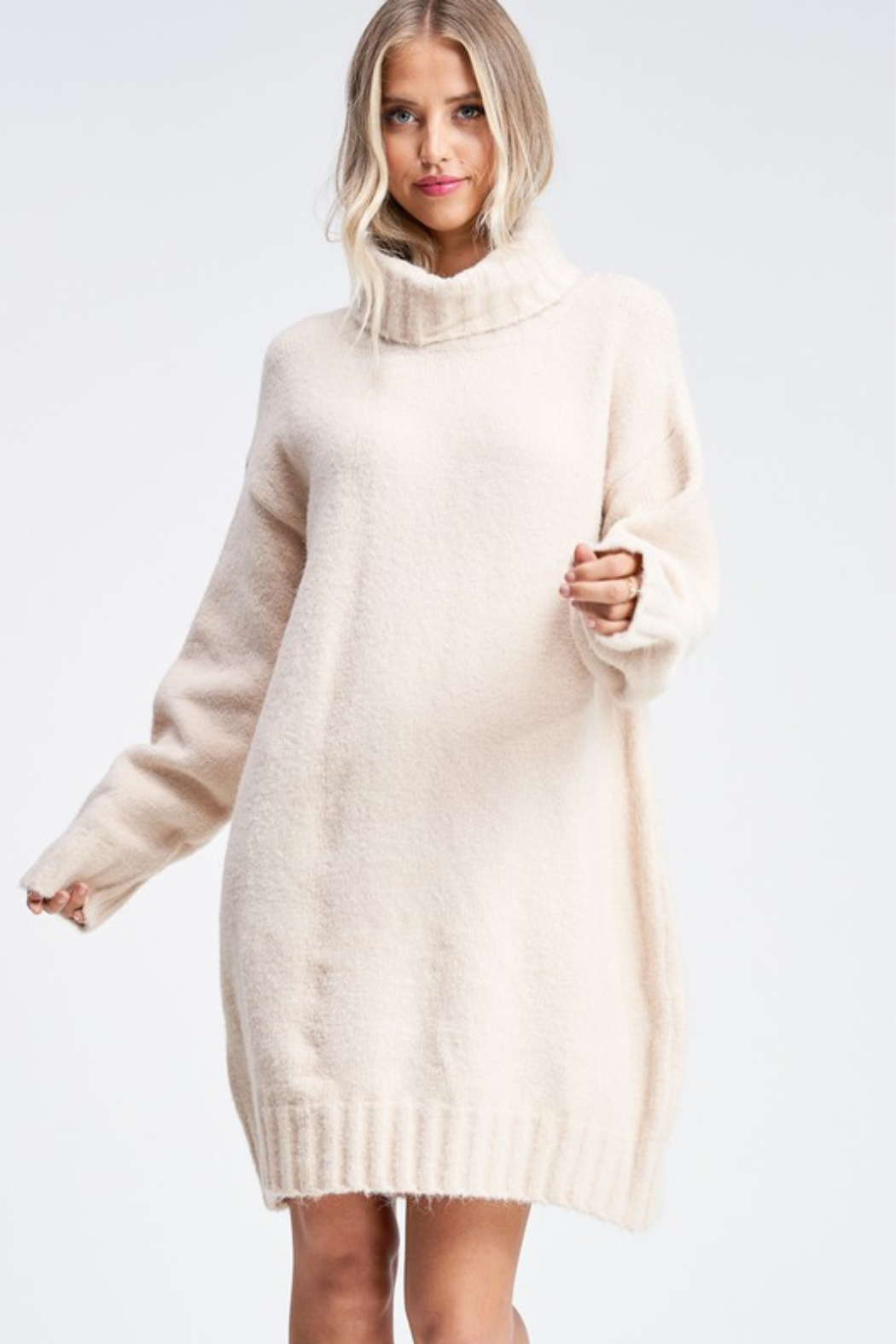Emory Park  Turtleneck Sweater Dress - Front Cropped Image
